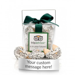 Custom Message Fortune Cookies. 6pc Clear Take-out Pail