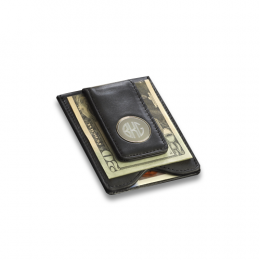 Personalized Monogram Leather Wallet and Money Clip