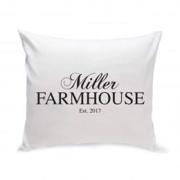 Personalized Modern Farmhouse Throw Pillow
