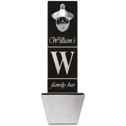 Personalized Wall Mounted Bottle Opener 12 different designs