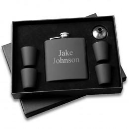 Custom Flask and Shot Glass Gift Box Set
