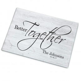 Personalized Better Together Glass Cutting Board