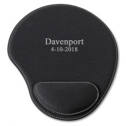 Personalized Black Mouse Pad