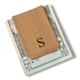 Personalized Men's Magnetic Money Clip - Single Initial