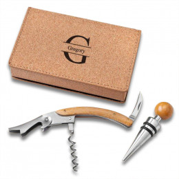 Personalized Cressa Cork Wine Opener Tool Set