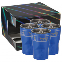 Custom Glacier 12 oz Insulated Tumbler 4-pack with Lids and Gift Box