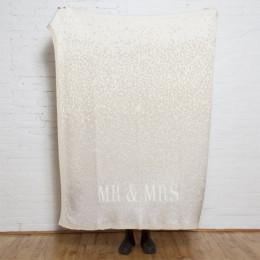 ''Mr. & Mrs.'' Glitter Confetti Eco Throw