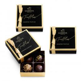 Godiva 4 pc Signature Chocolate Truffles (Set of 3)