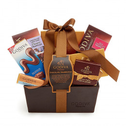 Godiva Celebration Gift Basket With Classic Ribbon