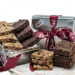 Gourmet Chocolate Brownie Fudge Gift Tin