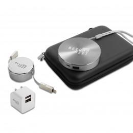 Custom 6,000 mAh Custom Disc Power Bank Gift Set