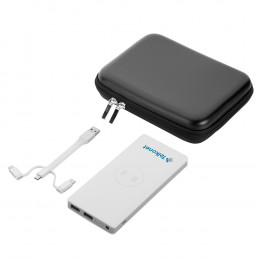 Qi Wireless Custom 10,000 mAh Power Bank With MFi 3-in-1 CableTech Gift Set