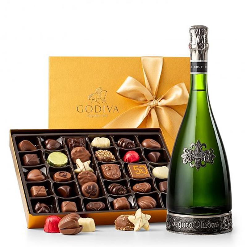 Chateau Montmore Sparkling Wine & Godiva® Chocolates