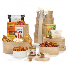 Tasteful Treats Gourmet Wood-Look Gift Tower