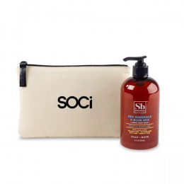 Soapbox® Liquid Hand Soap and Custom Cotton Bag
