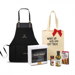 Taco Bar Sauce and Seasonings Gift Box with Apron