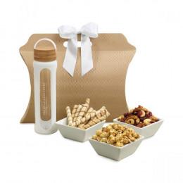 Custom Bali Bottle and Gourmet Treats Gift Tote