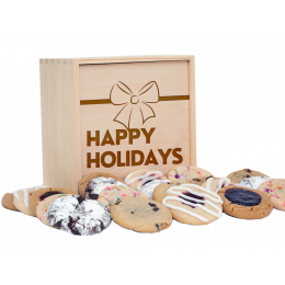 Holiday Deluxe Wood Cookie Gift Box