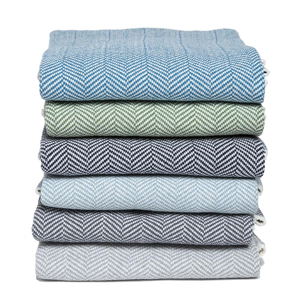 Eco Herringbone Throw Blanket