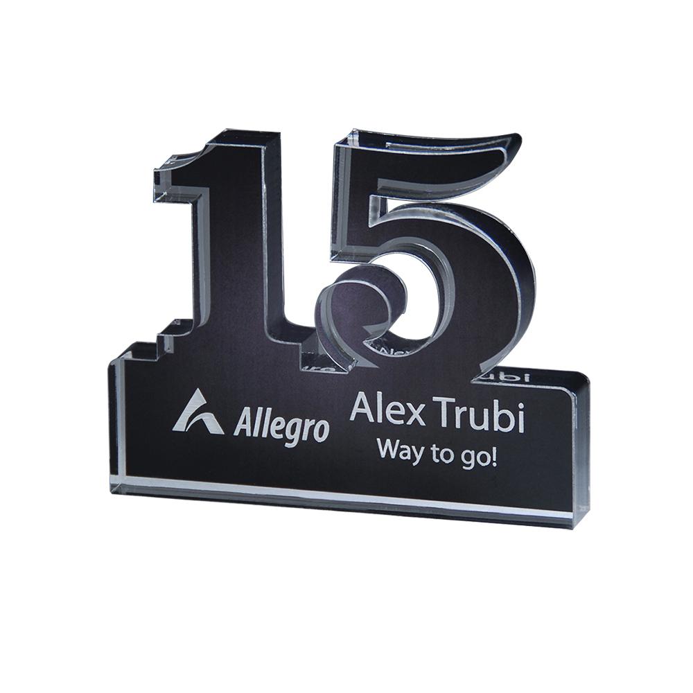 Custom Freestanding 15 Year Anniversary Award