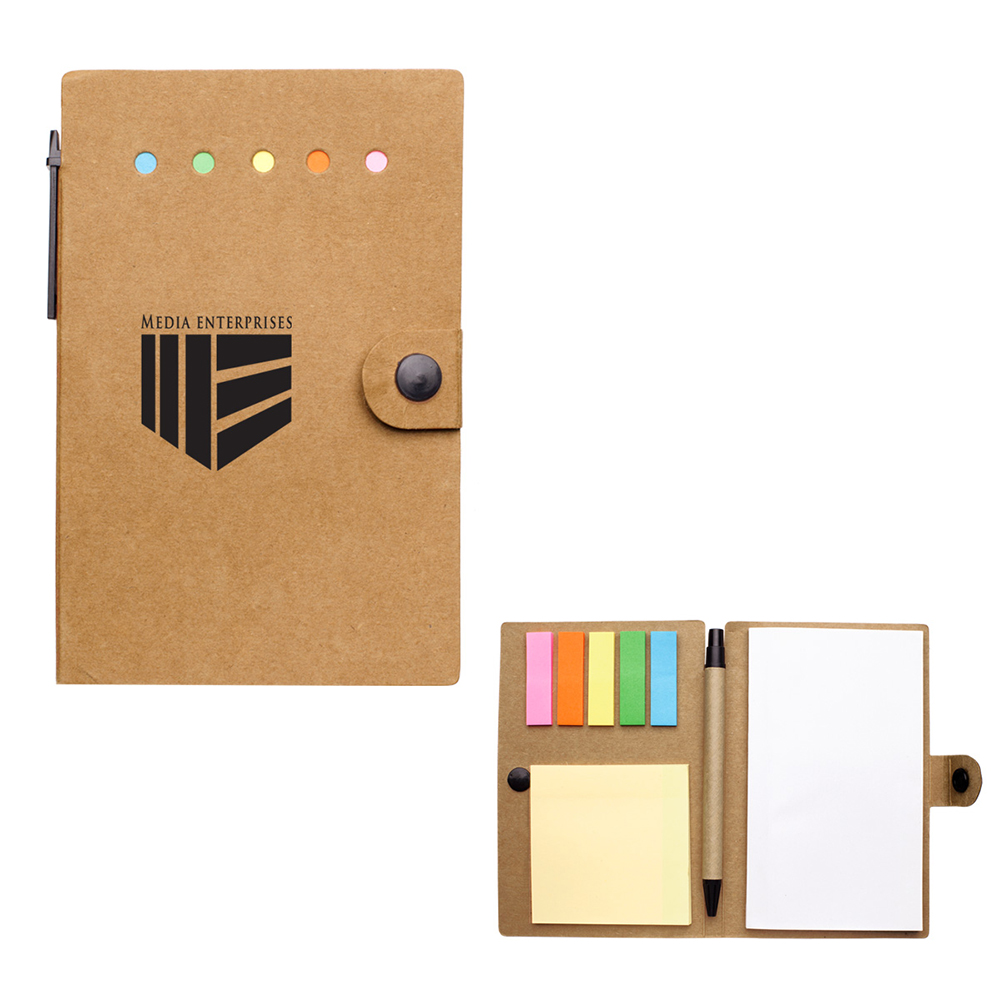 Custom Small Snap Notebook With Desk Essentials