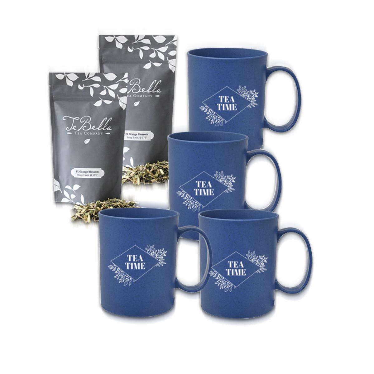 Custom TeBella 4 Piece Mug and Tea Gift Set