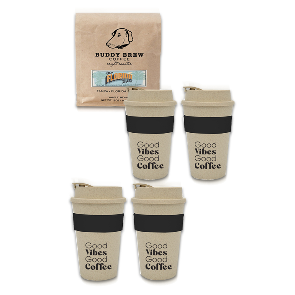 Custom Buddy Brew Coffee Gift Set For Four