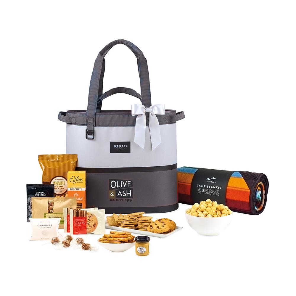 Igloo® Weekend Escape Gourmet Cooler Tote & Slowtide® Blanket Custom Gift Set