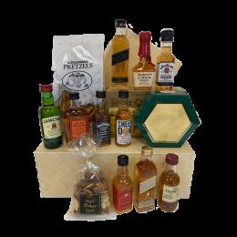 Assorted Whiskey Sampler and Snacks Set