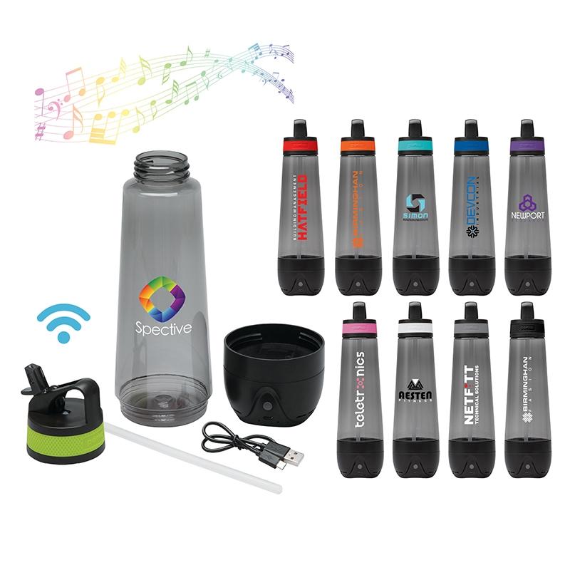 Custom Perka® Acadia I 25 oz. Tritan Speaker Bottle