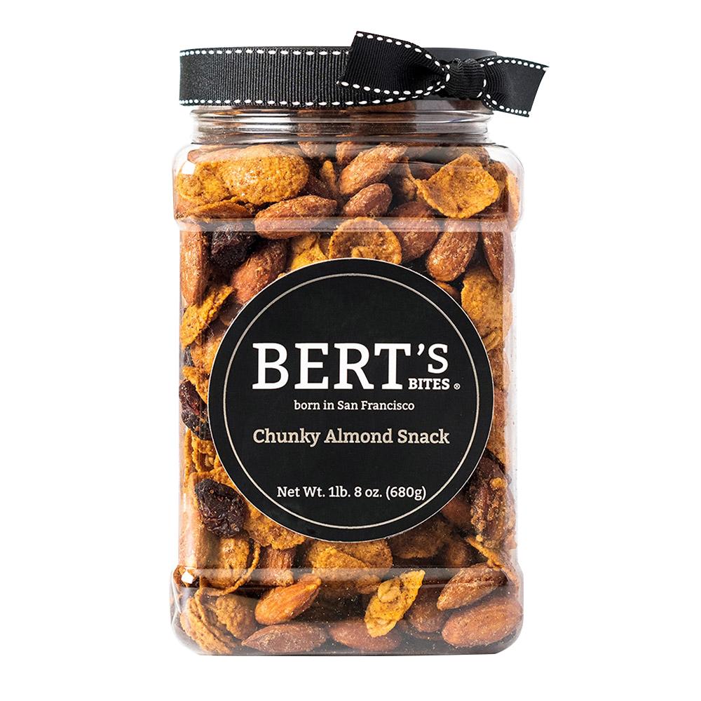 Bert's Bites Chunky Almond Snack Gift Jar - Large