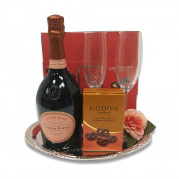 Laurent-Perrier Rose Pink Champagne 750ml Gift Tray