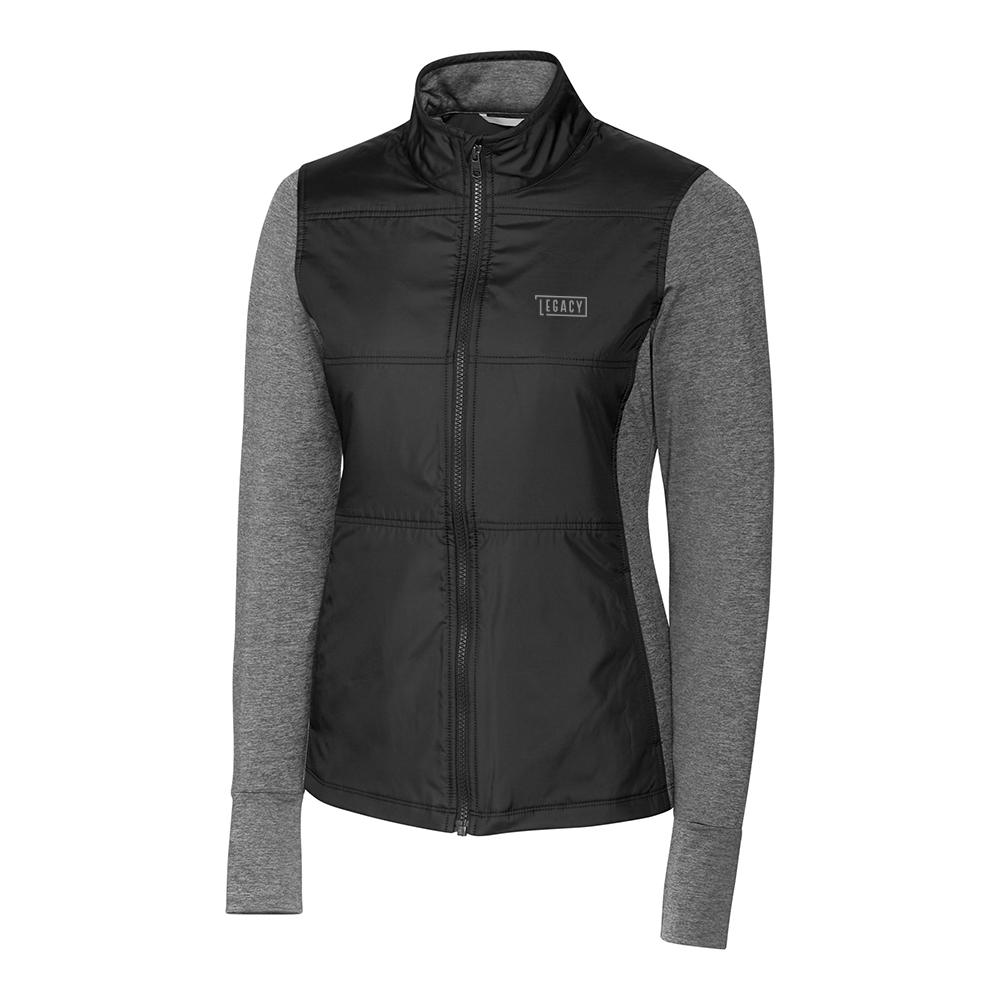 Custom Cutter & Buck Stealth Hybrid Quilted Full Zip Jacket - Ladies