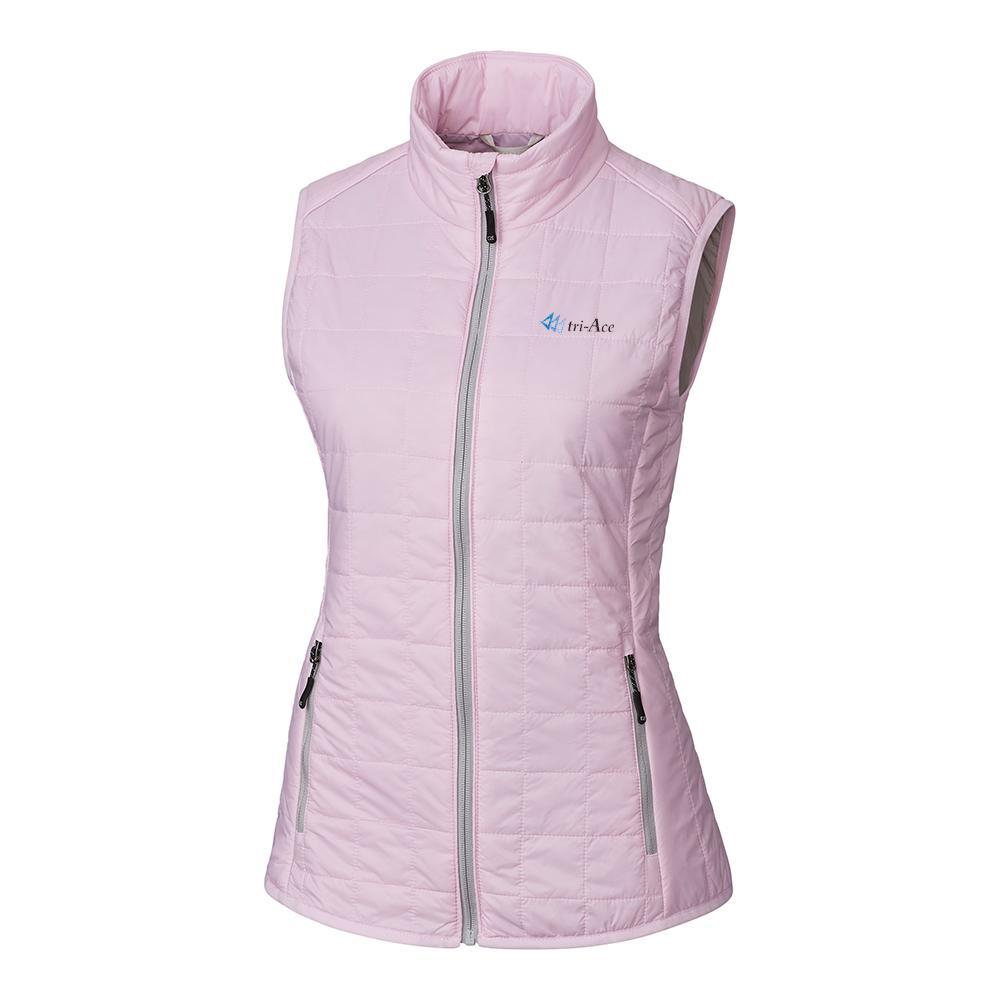 Custom Cutter & Buck Rainier PrimaLoft Eco Full Zip Vest - Ladies