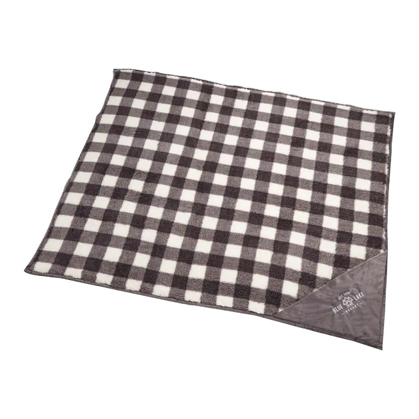 Custom Field & Co.® Double Sided Plaid Sherpa Blanket