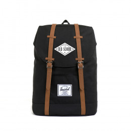 Custom Herschel Retreat 15'' Canvas Laptop Backpack with Leather-Like Straps