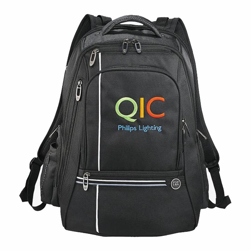 """Custom Cutter & Buck® Tour TSA 17"""" Computer Backpack"""