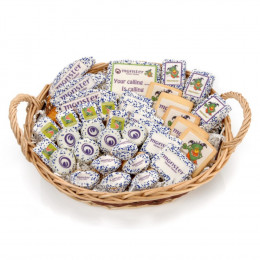 Baked Goods Basket w/ Custom Message and Logo - Large