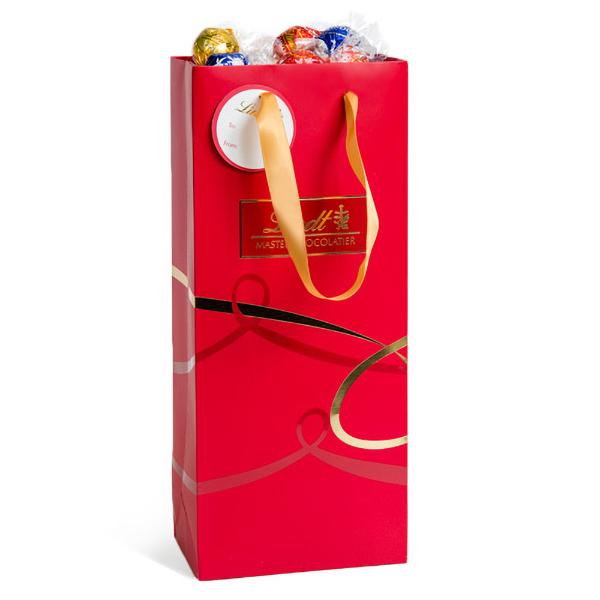 Lindt Assorted Lindor Red Gift Bag (75pc 31.7oz)
