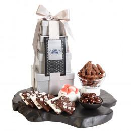 Premium 4-Tier Tower of Gourmet Treats