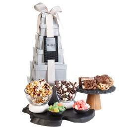 Premium Sweet Snacks Gourmet Gift Tower