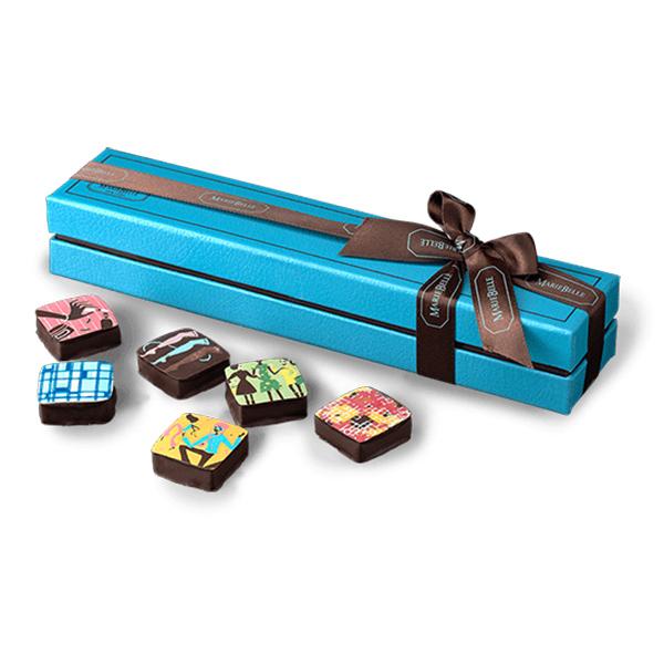 MarieBelle New York Chocolate Ganache Flight - 6 pc