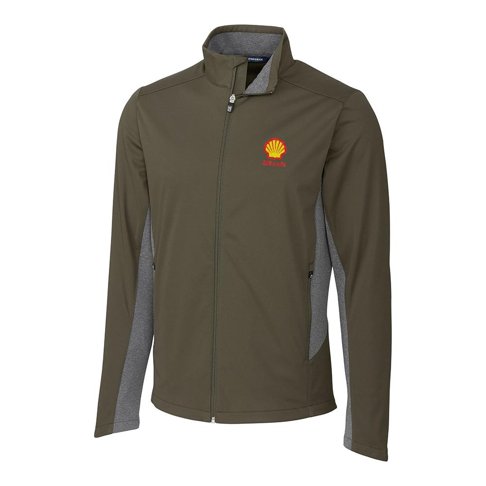 Custom Cutter & Buck Navigate Softshell Full Zip Jacket - Men's