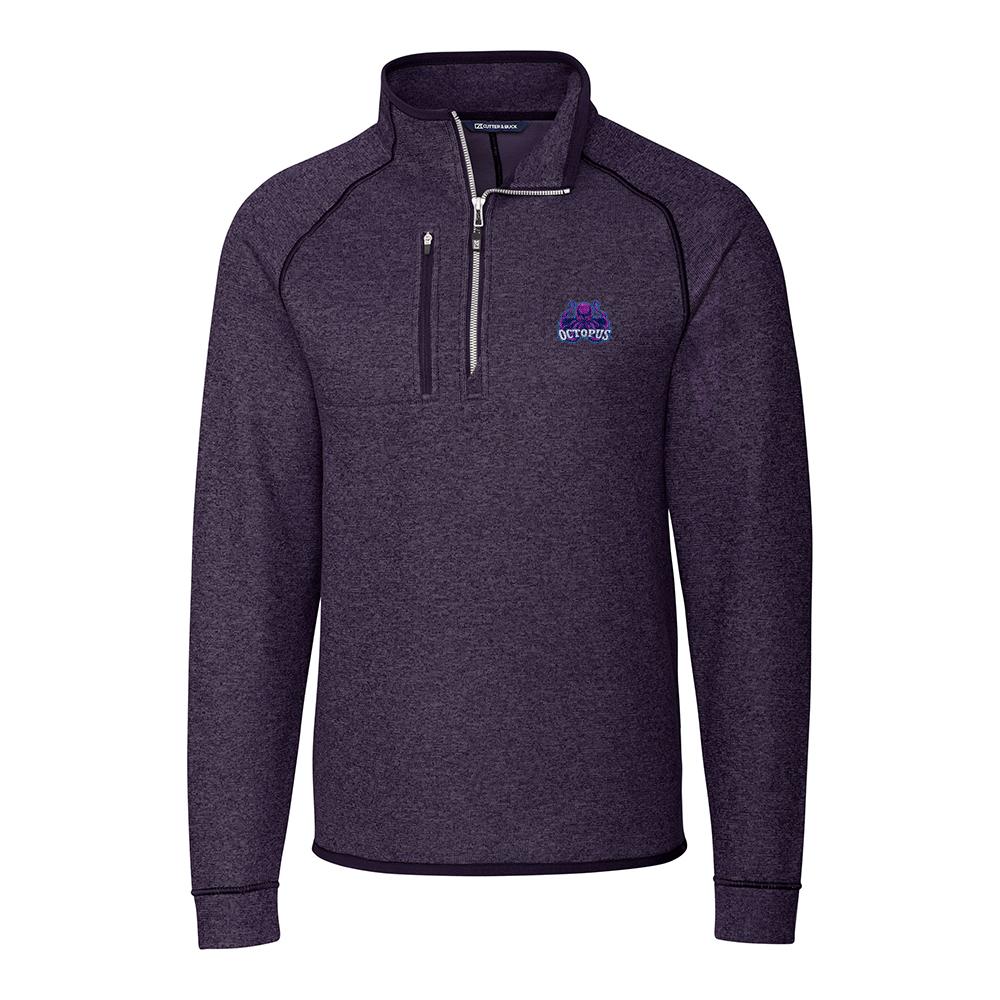 Custom Cutter & Buck Mainsail Sweater-Knit Half Zip Jacket - Men's