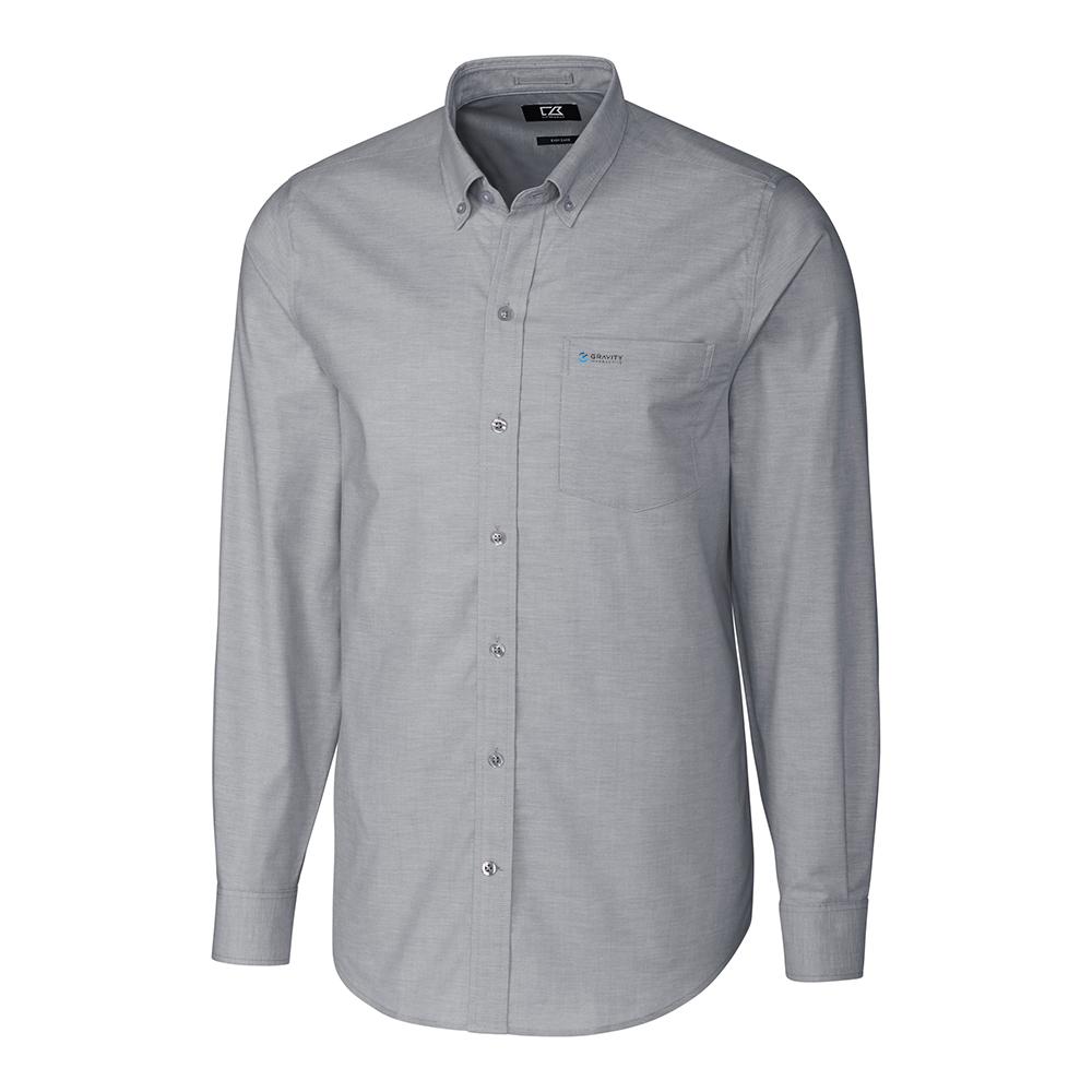 Custom Cutter & Buck Easy Care Stretch Oxford Long Sleeve - Men's