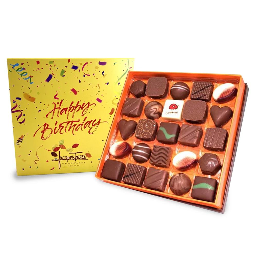 Milk Chocolate Bonbons With Happy Birthday Sleeve
