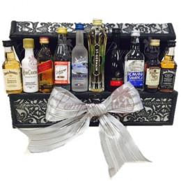 Mini Bar in a Box Ultimate Liquor Gift Basket