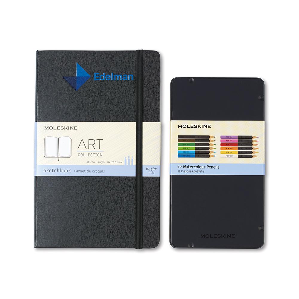 Moleskine® Coloring Kit – Custom Sketchbook and Watercolor Pencils
