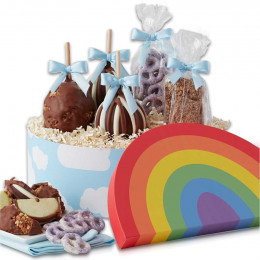 Over the Rainbow Caramel Apple Gift Set