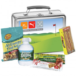 Custom Metal Lunchbox with Snack Assortment